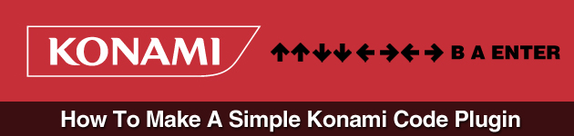 How To Make A Simple Konami Code Plugin