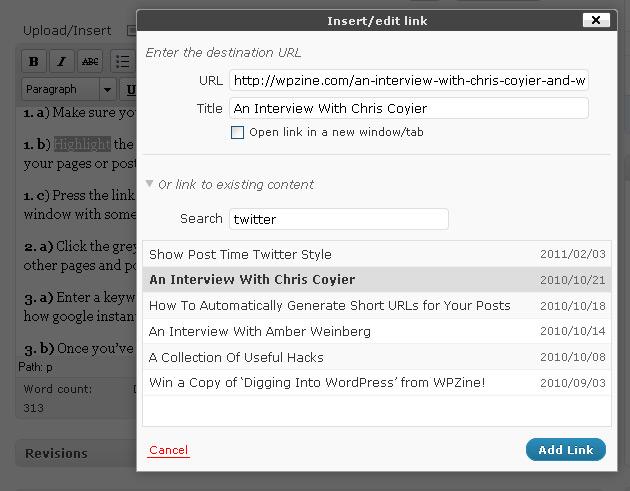 WordPress Internal Linking Now Made Simple!